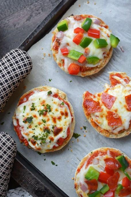 Freezer English Muffin Pizzas
