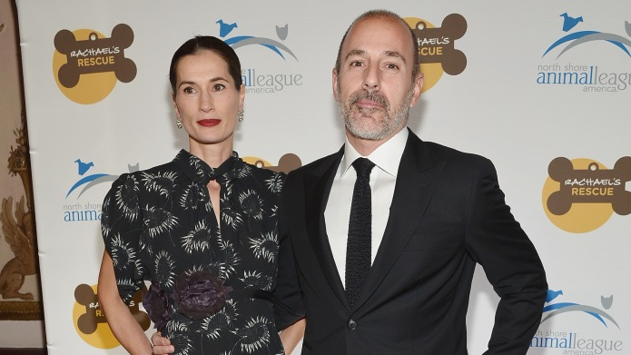 Annette Roque and television journalist Matt