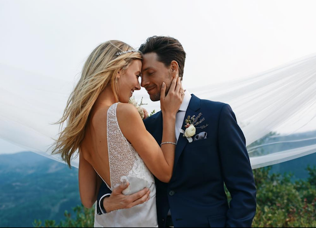 Gregory Smith and Taylor McKay on their wedding day in August 2018