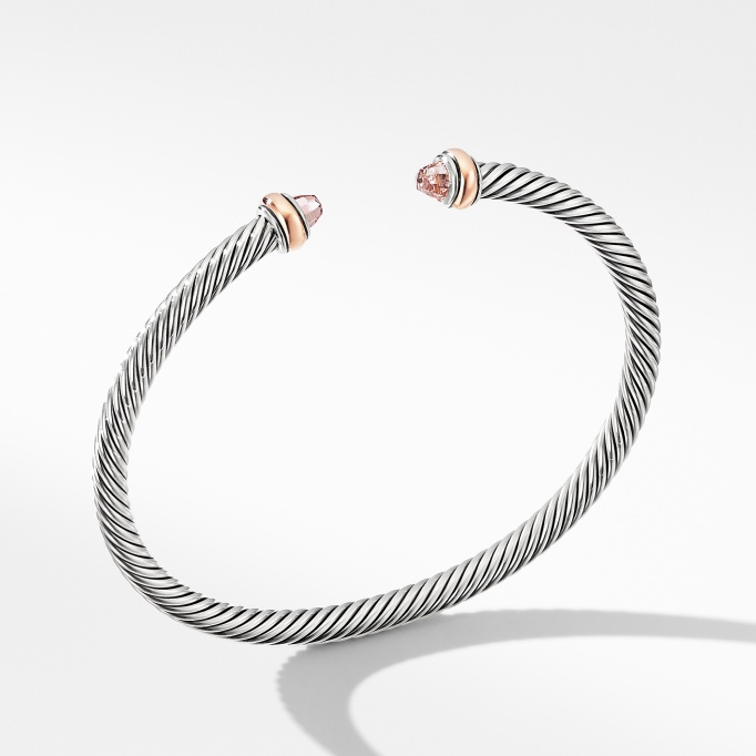 David-Yurman-Cable-Classics-Bracelet-with-Morganite-and-18K-Rose-Gold