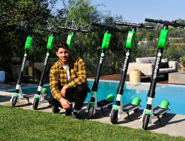 Nick Jonas Lime scooters