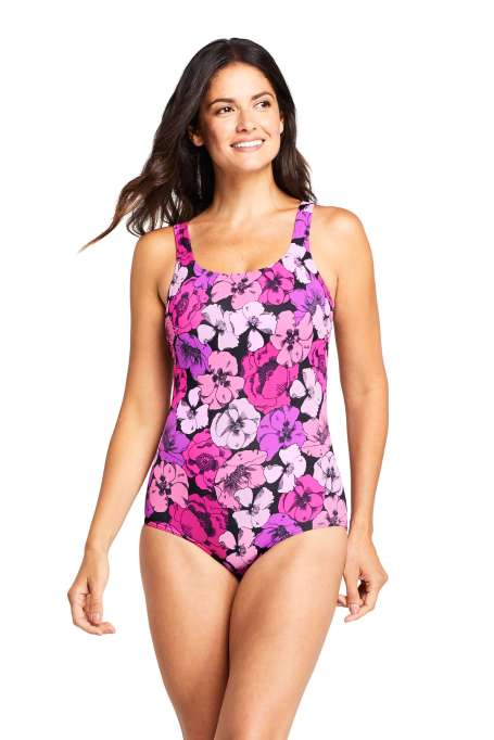 Womens-Mastectomy-Chlorine-Resistant-Tugless-One-Piece-Swimsuit-Soft-Cup