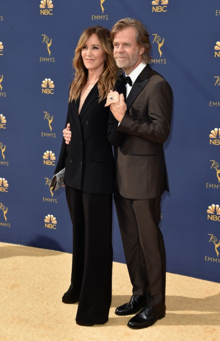 Felicity Huffman and William H. Macy attend the 70th Emmy Awards at Microsoft Theater