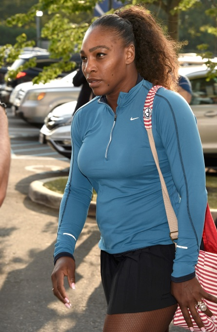 Serena Williams arrives at 2018 US Open