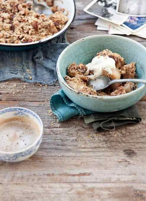 Nutty Hazelnut and Almond Pear Crumble