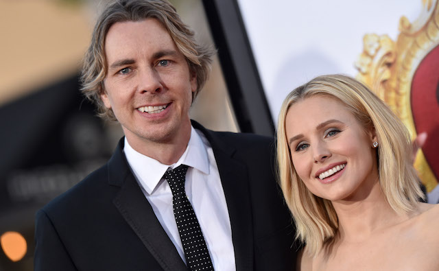 Dax Shepard and Kristen Bell arrive at the premiere of USA Pictures' 'The Boss' at Regency Village Theatre on March 28, 2016, in Westwood, California.