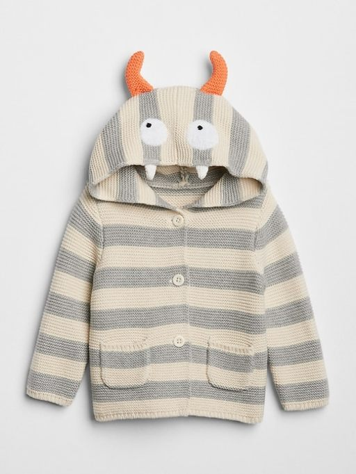 Knit Hooded Monster Sweater