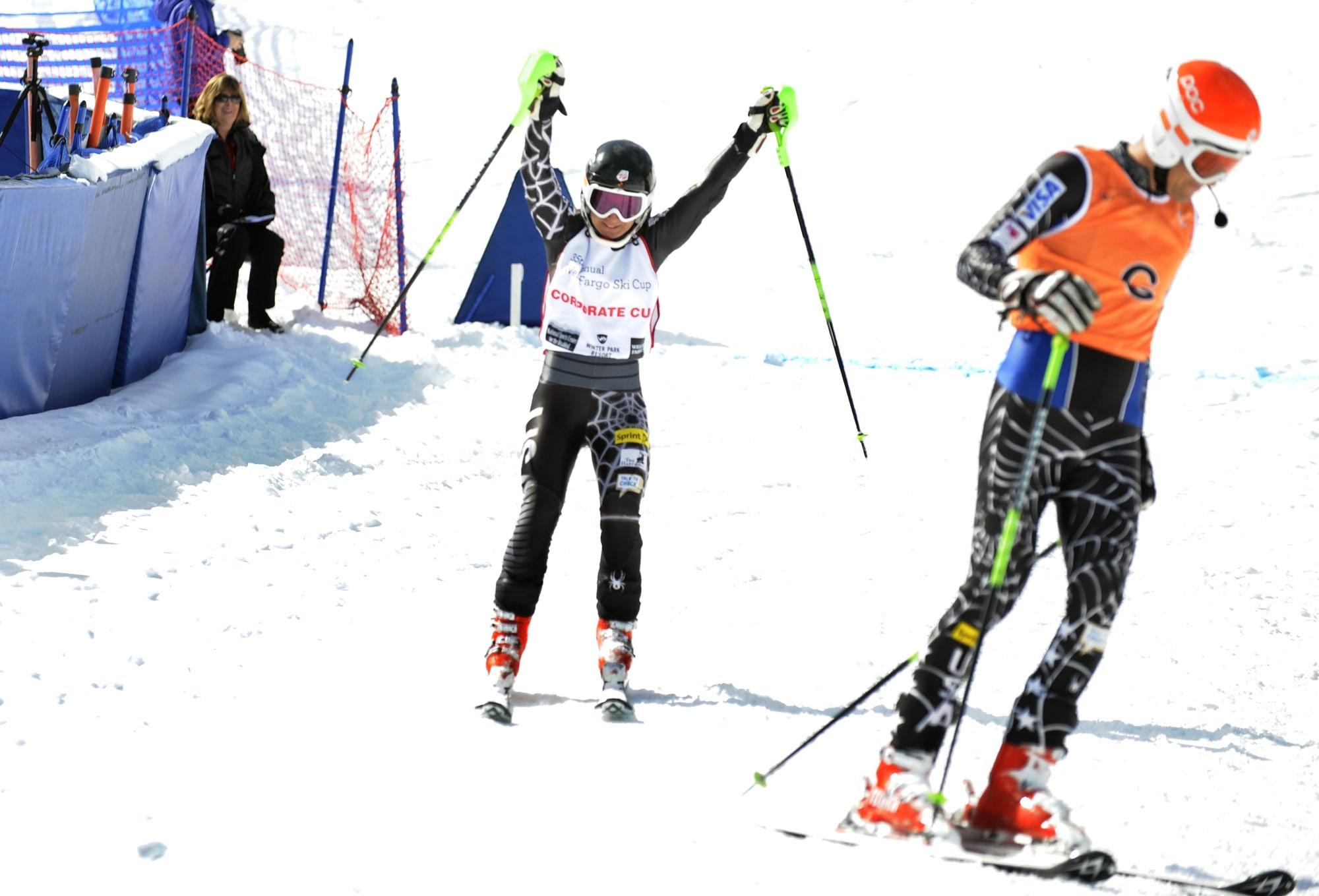 Photo of alpine skier Danelle Umstead on the ski slopes