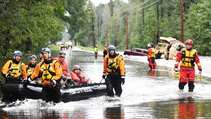 Hurricane Florence victims being rescued