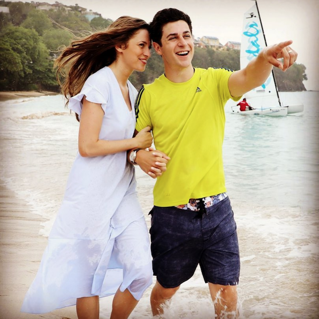 Photo of David Henrie and wife Maria Cahill on Instagram