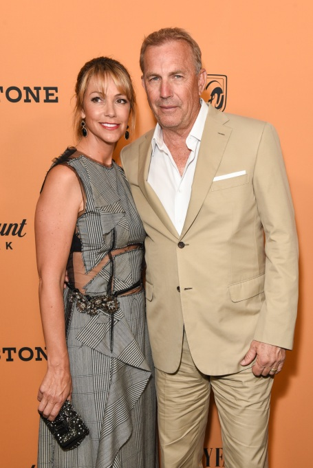 Photo of Kevin Costner and Christine Baumgartner