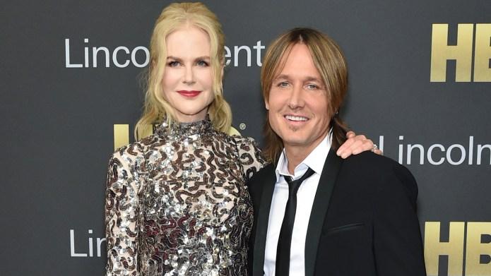 Nicole Kidman and singer-songwriter Keith Urban