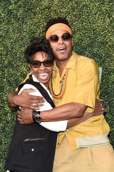 Gladys Knight and Maxwell arrive at 2018 US Open