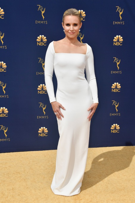Kristen Bell attends the 70th Emmy Awards at Microsoft Theater