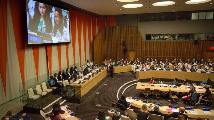 UN ECOSOC chamber on the UN