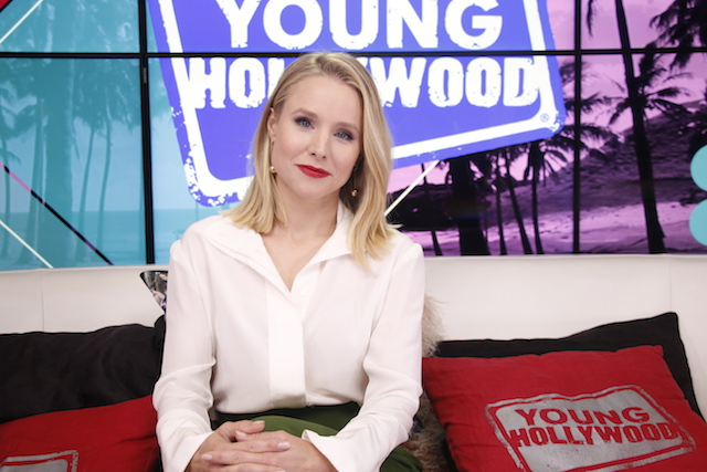 Kristen Bell visits the Young Hollywood Studio on July 28, 2018, in Los Angeles, California