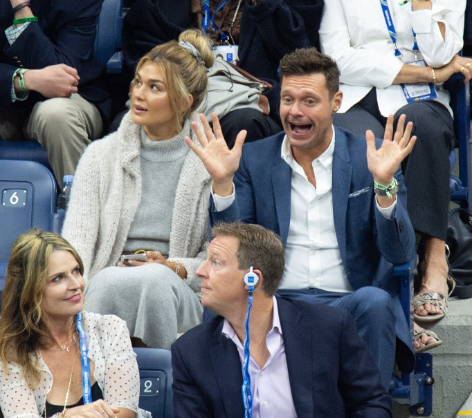 Ryan Seacrest & Shayna Taylor at 2018 US Open