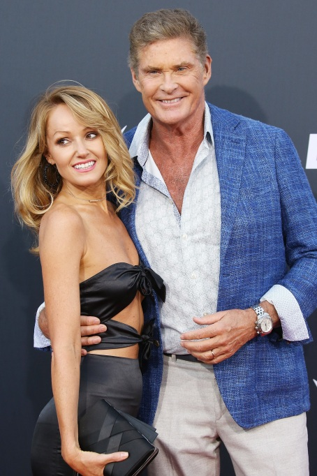 Photo of David Hasselhoff and Hayley Roberts