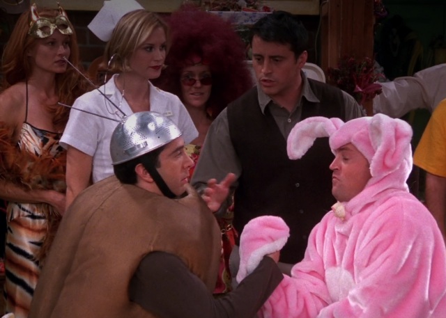 Still from 'Friends': 'The One With the Halloween Party'