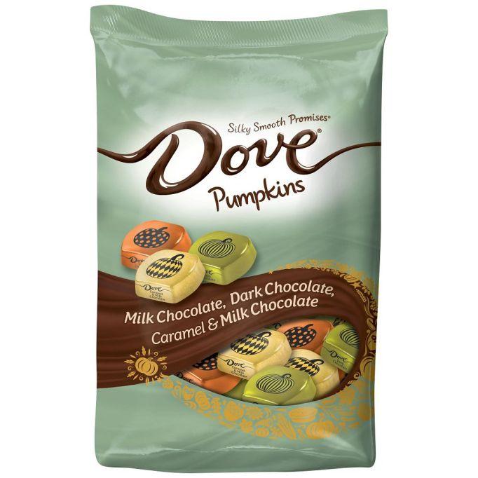 Dove chocolate pumpkins