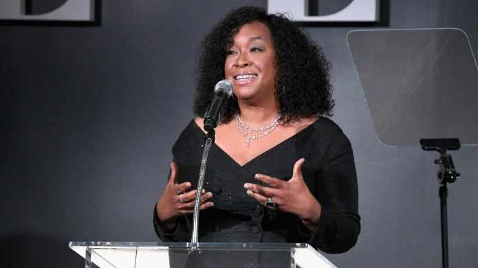 Shonda Rhimes speaks onstage during ELLE's