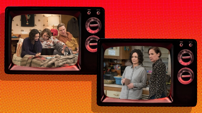 Stills from 'Roseanne' and 'The Conners'