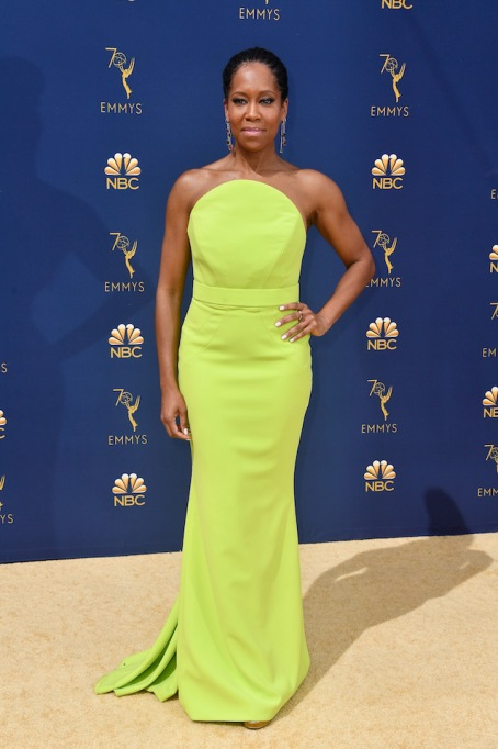 Regina King attends the 70th Emmy Awards at Microsoft Theater