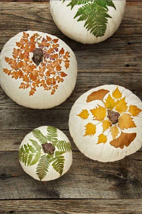Autumn Leaf Pumpkins