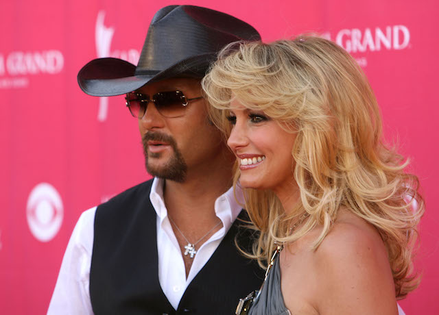 Tim McGraw and Faith Hill arrive at the 42nd Annual Academy Of Country Music Awards