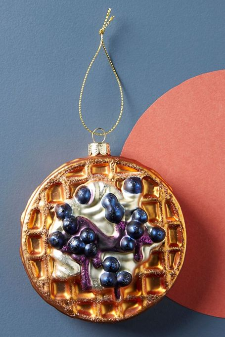 Belgian waffle ornament