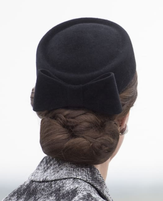 Wearing Hairnets to Keep Updos in Place