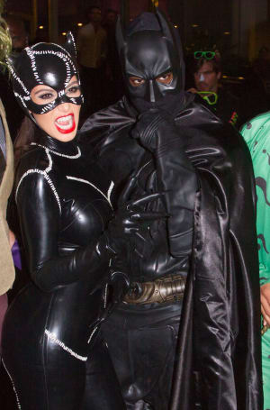 : Kim Kardashian and Kanye West arrive at Kim Kardashian's Halloween party at LIV nightclub at Fontainebleau Miami