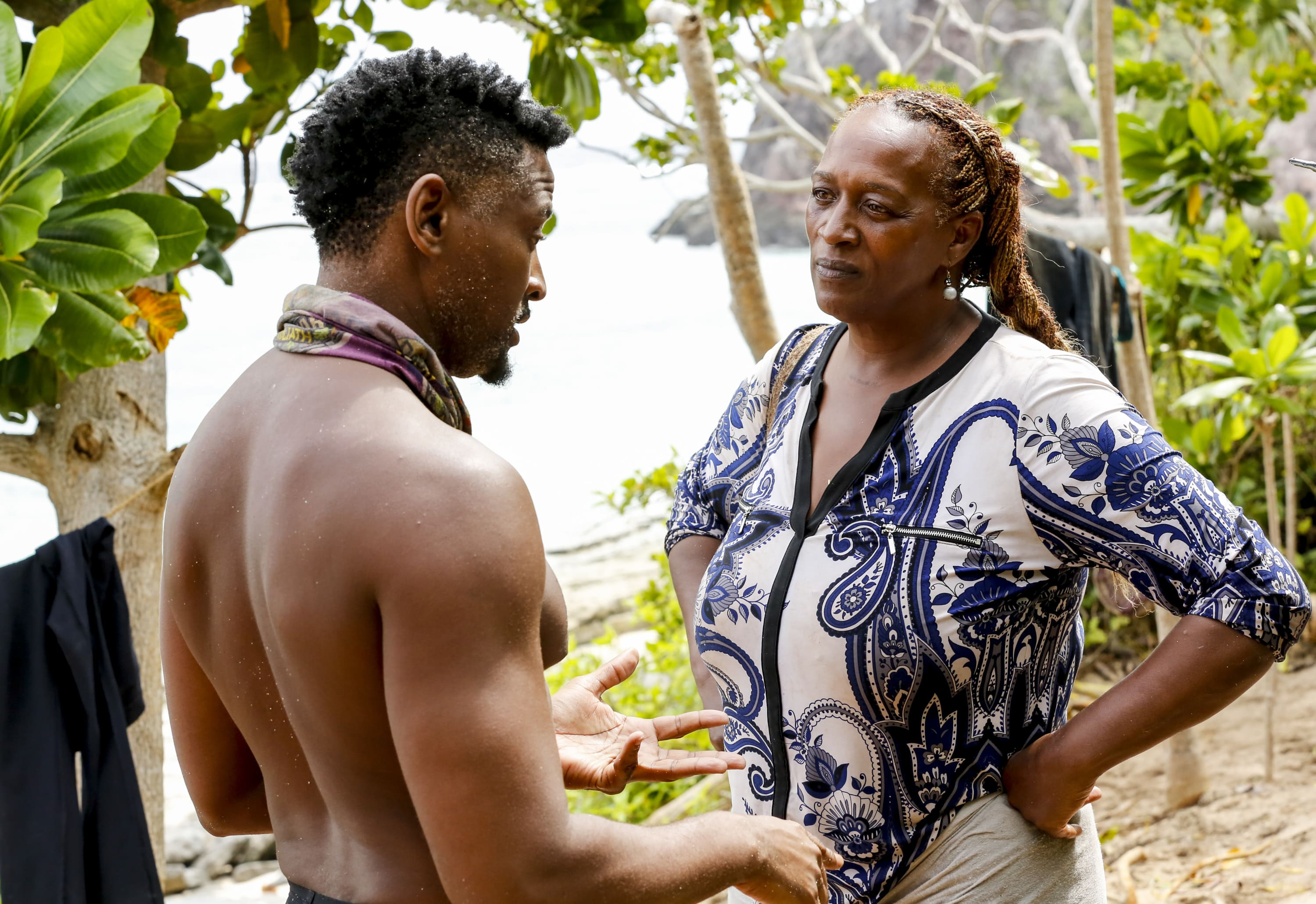Jeremy Crawford talks with Natalie Cole on Survivor: David vs. Goliath