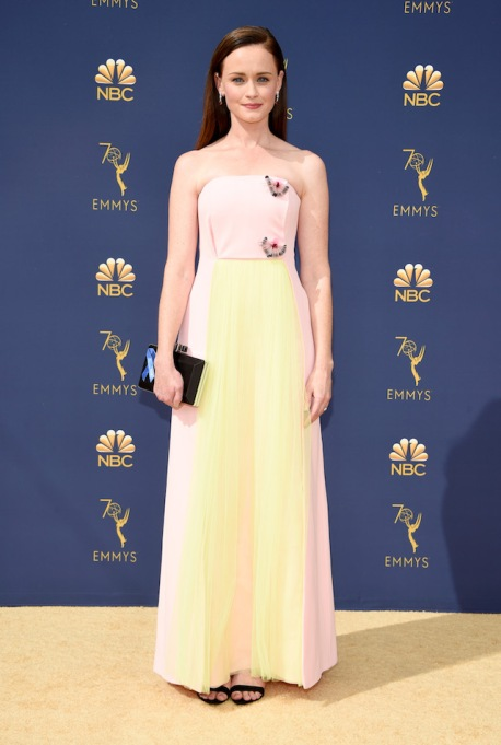 Alexis Bledel attends the 70th Emmy Awards at Microsoft Theater