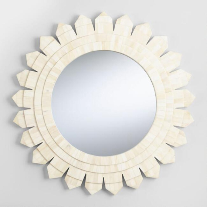 Natural Bone Sunburst Mirror