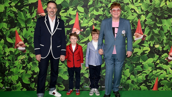 Elton John and Husband and Sons