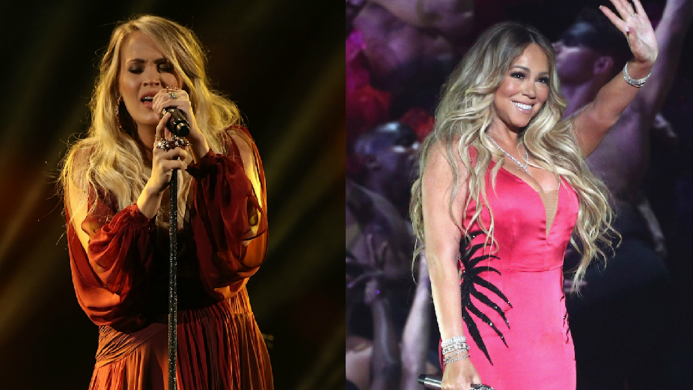 Collage of Carrie Underwood & Mariah