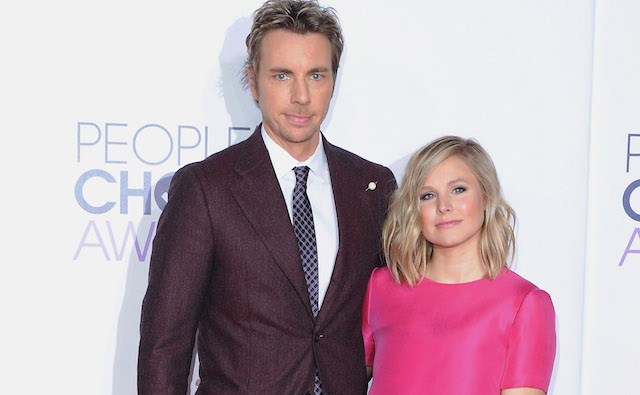 Dax Shepard and Kristen Bell arrive at The 41st Annual People's Choice Awards at Nokia Theatre L.A. Live on January 7, 2015, in Los Angeles, California.