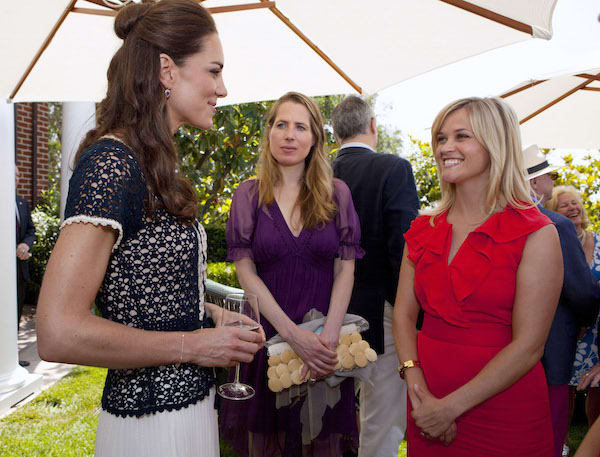 Photo of Catherine, Duchess of Cambridge, and Reese Witherspoon in Santa Barbara, California