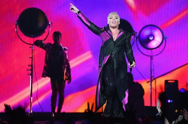 Pink performs at Rod Laver Arena on July 16, 2018, in Melbourne, Australia
