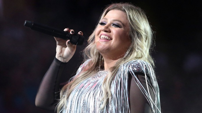 Kelly Clarkson performs during the opening