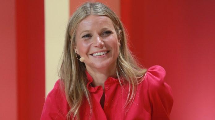 Gwyneth Paltrow speaks on stage at