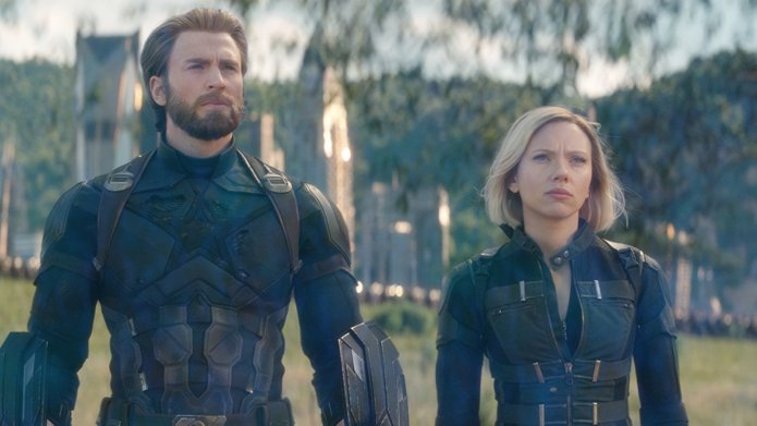 Still of Chris Evans and Scarlett