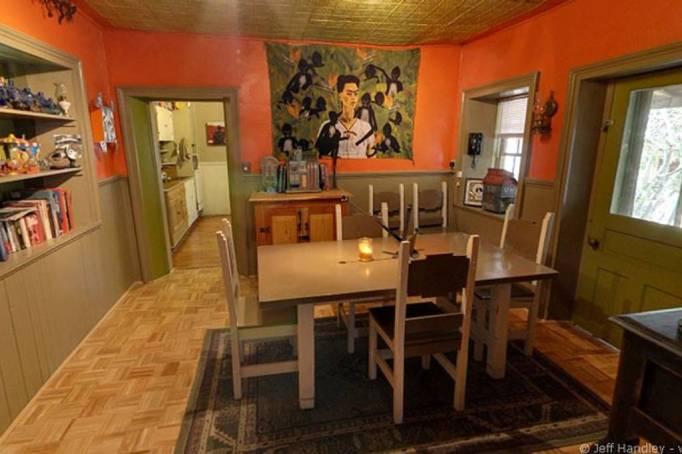 Historic adobe home in New Mexico.