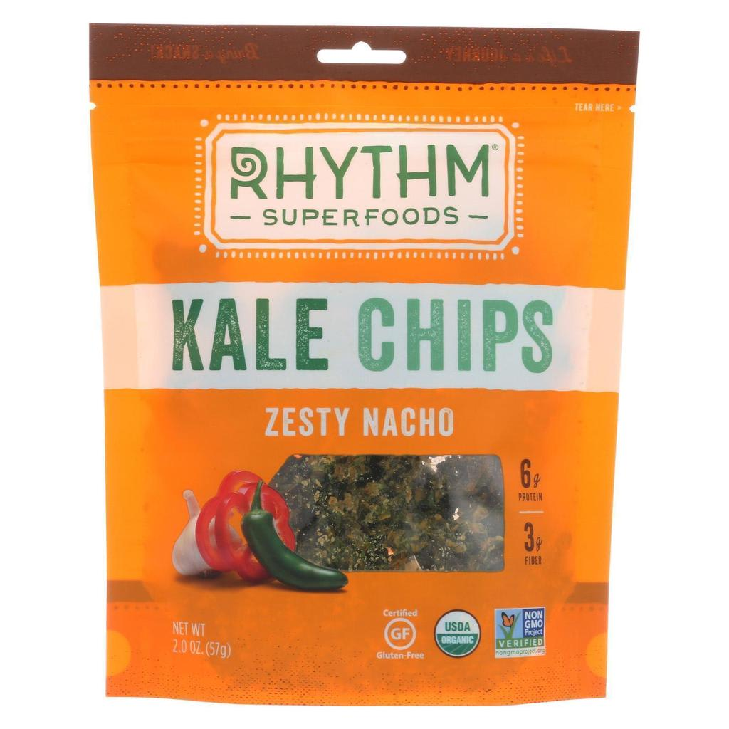 Rhythm Super Foods Zesty Nacho Kale Chips