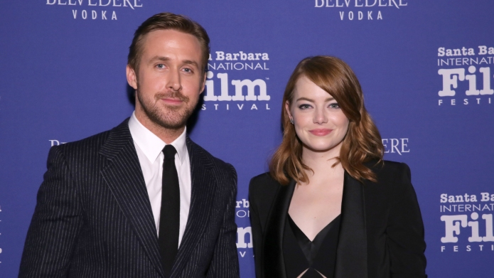 Ryan Gosling and Emma Stone arrive