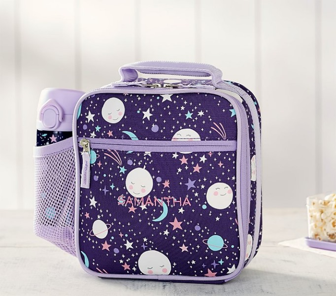 Mackenzie Plum Moon & Stars Glow-in-the-Dark Classic Lunch Bag