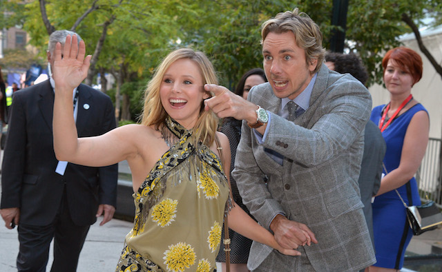 Kristen Bell and Dax Shepard attend 'The Judge' premiere during the 2014 Toronto International Film Festival at Roy Thomson Hall on September 4, 2014, in Toronto, Canada.