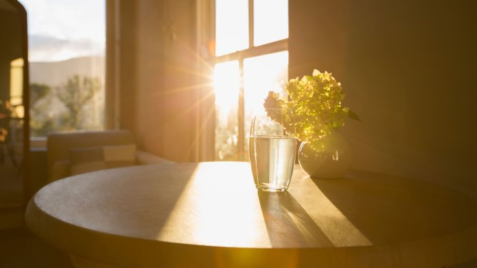 Sunlight streaming through window onto a