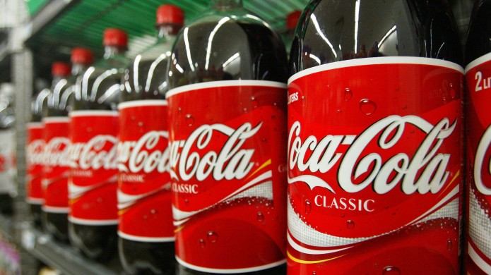 photo of coca cola bottles